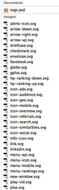 תיקיית ה-SVG